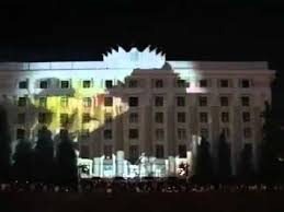 3d light show amazing 3d light show on a building must watch youtube