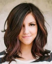 hairstyles for thick hair and heart face long bob hairstyles for thick and light wave hair for young woman