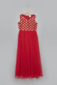 buy utsa kids by westside red maxi dress for girls clothing online