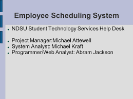 ndsu it help desk employee scheduling system ndsu student technology services help