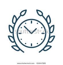 laurel wreath clock vector icon meaning stock vector 618847886