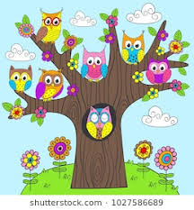 owl in tree stock images royalty free images vectors