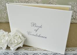 memorial book white book of condolence book of remembrance funeral guest book