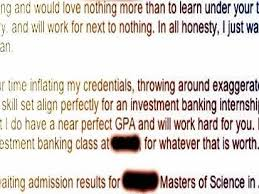 student sends great cover letter for internship at bank and it u0027s