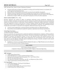 brilliant ideas of avionics technician resume sample for template