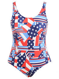 Flag One Piece Swimsuit 2018 Plus Size American Flag Swimsuit Blue Xl In Plus Size