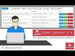 how to make a crud application using cakephp 3 4 and bootstrap
