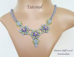 bead tutorial necklace images Casual t beaded necklace beading tutorial beadweaving pattern seed jpg