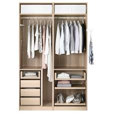 ikea closets pax wardrobe white stained oak effect mehamn white 150x66x236 cm
