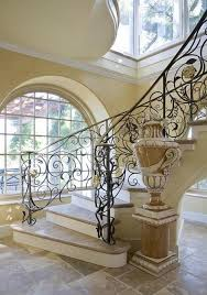 Stair Cases Modern Spiral Staircases With Leaf Plant Pattern Iron Banister