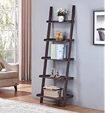 Boon Bookshelf Amazon Com Walnut 5 Tier Leaning Ladder Book Shelf Kitchen U0026 Dining