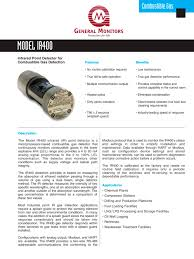 ir400 point ir gas detector general monitors pdf catalogue