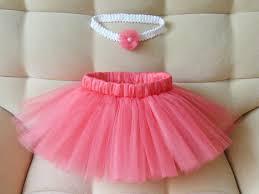 crochet headband tutu coral tutu skirt and crochet headband baby girl tutu wedding and