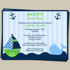nautical themed baby shower invitations cloveranddot com