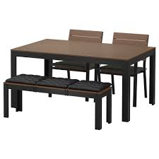 Ikea Outdoor Furniture by Falster Table 2 Chairs And Bench Outdoor Falster Black Brown