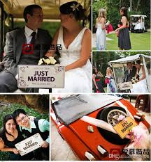Diy Car Decor Custom Made Marriage Wedding Car Decoration Festive License Plate
