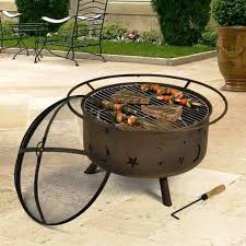 Fire Pit Grille by Cowboy Fire Pit Grill Cover Home Fireplaces Firepits Great Fun