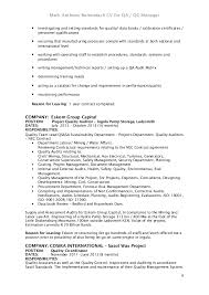 Quality Control Inspector Resume Sample by Qc Inspector Resume Oil And Gas Contegri Com