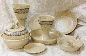 used ceramic pouring table communion ware sets pottery christian communionware travel home