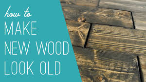How To Make Old Wood Cabinets Look New Making New Wood Look Old Youtube