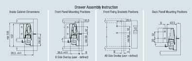 15 Cabinet Positions Ebco Pro Motion Drawer System U0027n Series U0027 Silver Grey Profile
