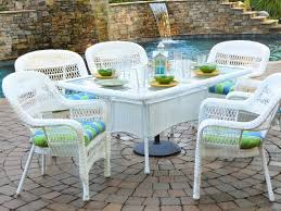 white wicker patio furniture chair dining pleasant modern in 7