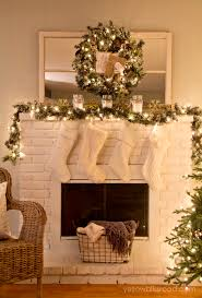 rustic glam christmas tree and mantel yellow bliss road