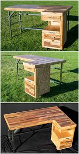 Industrial Standing Desk by Industrial Standing Executive Desk From Repurposed Pallets U2022 1001
