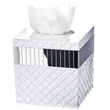 tissue paper box quilted mirror tissue box cover square 6 x 6 x 5 75