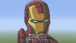 iron man minecraft pixel art by felixguaman on deviantart