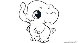 Coloriage Elephant Cute Mignon Animaux dessin