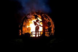 Fire Pit Globe by Amazing Fire Pit Art U2013 Metal Structure Architecture U0026 Interior