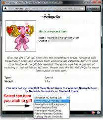 send a gram nc mall grams the daily neopets