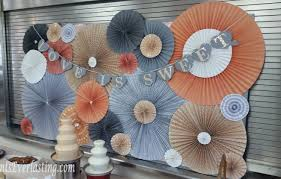 paper fan backdrop diy paper fan backdrop events everlasting events everlasting