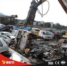 Machine Downtime Spreadsheet Excavator Hydraulic Demolition Shear Used For Cutting Scrap Sheet