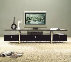 white modern tv stands with glass top