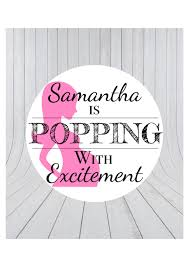 popping with excitement baby shower favour stickers about to pop