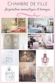 chambre fille baroque détails baroques pour une décoration romantique réussie dans une