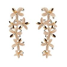 ear ring photo buy zephyrr golden stones dangle drop earring for women online