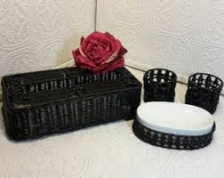 Wicker Bathroom Accessories by Soap Dispenser Cover Etsy