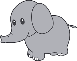 free elephant face clipart without background