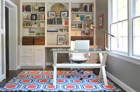 Creative Ideas Home Office Furniture Colorful Printed Rug For Creative Ideas Home Office Ideas With