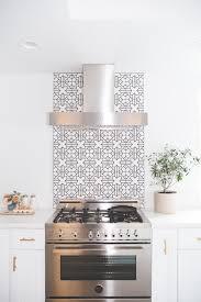 kitchen stove backsplash minimal bliss can t get enough of this black and white backsplash