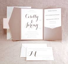 Pocket Invitation Cards Sand And Soft Coral Wedding Invitation Bellus Designs