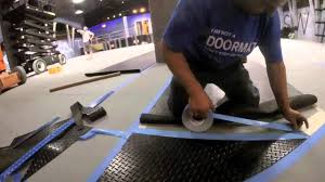 G Force Garage Flooring by Quick Guide To Installing Rubber Flooring Using Double Sided Tape