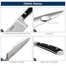 kitchen knives review uk amazon com aicok professional chef knife kitchen knife set