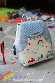 kindergarten backpack pattern tutorial how to make a small children backpack bolsos pinterest