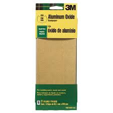 shop 3m 9 pack 3 6 in w x 9 in l 150 grit commercial sandpaper at