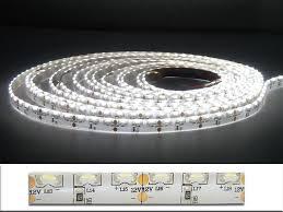 5m 335 led light ribbon side view emitting warm white light 48w