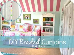 Ikea Pink Curtains Ikea Hack Diy Beaded Curtains Giveaway Fizzy Pops